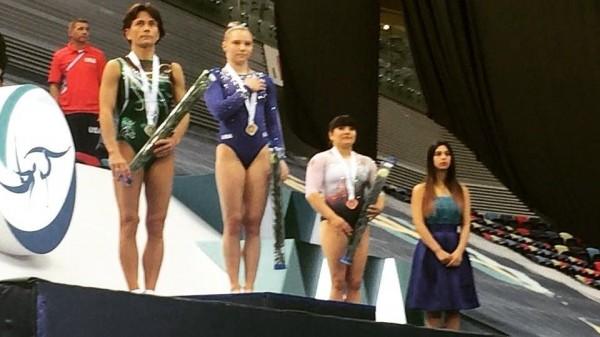 Alexa Moreno sube al podio en Copa del Mundo de Gimnasia