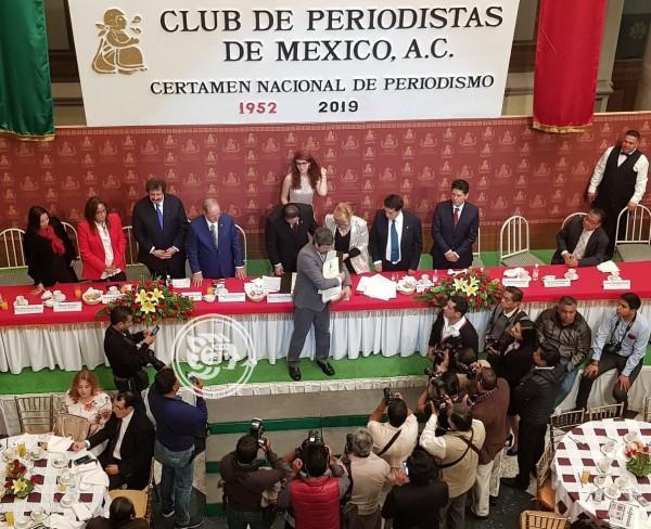 Club de periodistas entrega 48 premios nacionales e internacionales