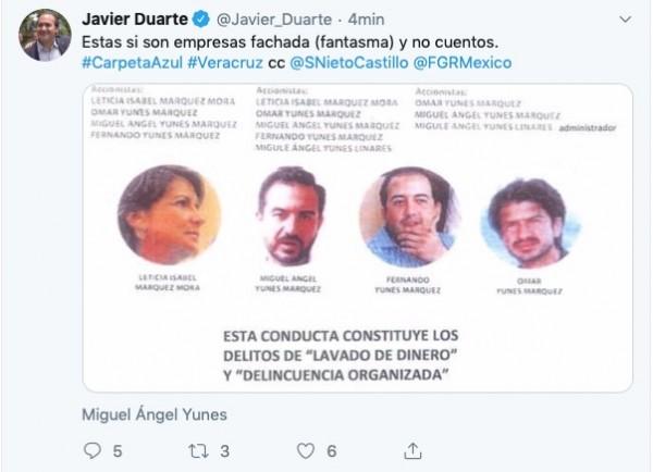 Duarte acusa a Yunes y a sus hijos de saquear al ISSSTE