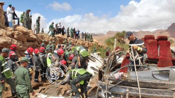 Al menos 17 muertos en Marruecos en un autocar arrastrado por la crecida de un río