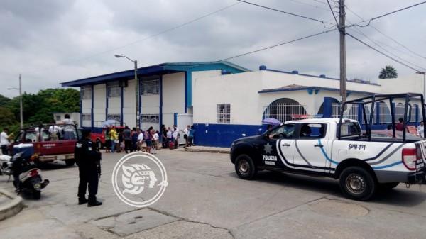 Policía Municipal de Oluta intensifica vigilancia en escuelas