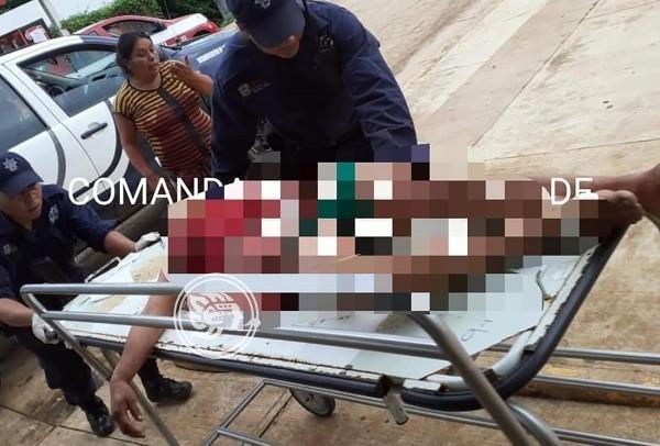Asesinan a mujer en riña de ebrios en Mecayapan