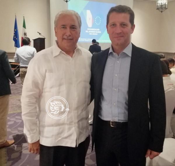 Se reúnen empresarios veracruzanos con misión europea