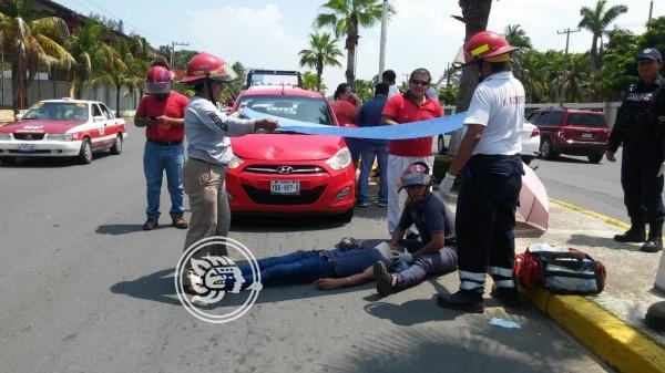 Joven es atropellado en avenida de Coatzacoalcos