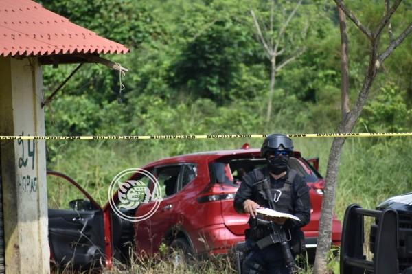 Tras persecución y tiroteo, la SSP asegura camioneta en Texistepec