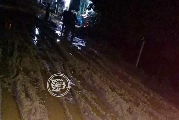 Calles de Mapachapa son un lodazal tras relleno