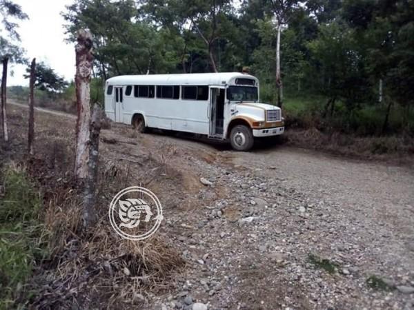 Extreman precauciones en caminos de Las Choapas