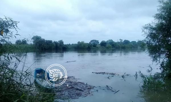 Aumenta nivel del río Uxpanapa por lluvias
