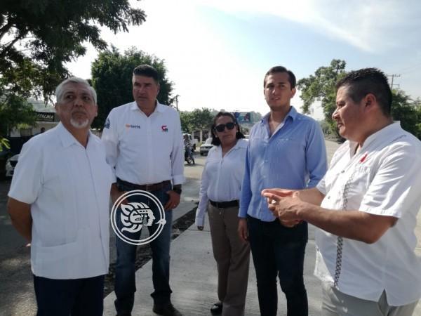 Supervisa SIOP obras carreteras en el norte de Veracruz