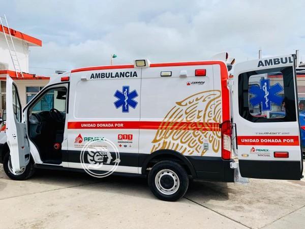 Pemex entrega una ambulancia al Ayuntamiento de Las Choapas