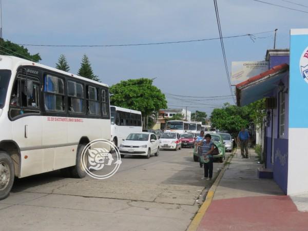 Inseguridad en la zona, se refleja en caída del servicio de transporte