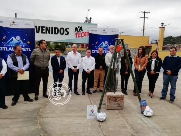 Colocan la primera piedra del Planetario Citlaltépetl en Orizaba