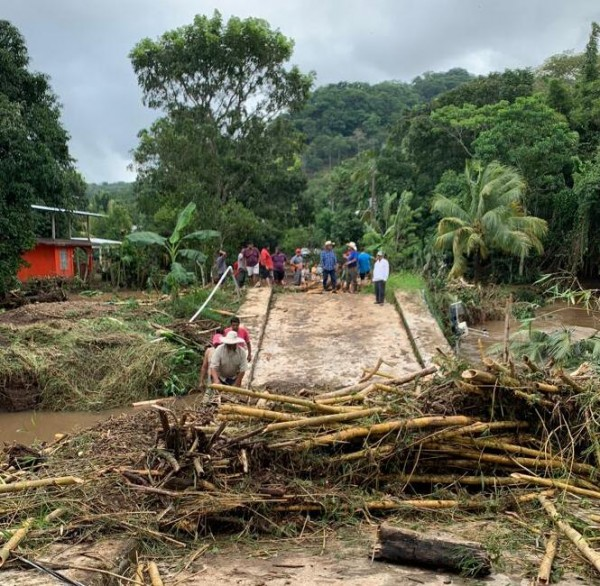 En Catemaco, 150 familias damnificadas tras Frente Frío