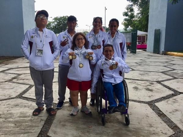 Atletas veracruzanos obtienen 70 medallas en Paralimpiada Nacional 2019, en Colima