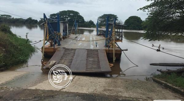 Por creciente de río, paran panga de Hidalgotitlán