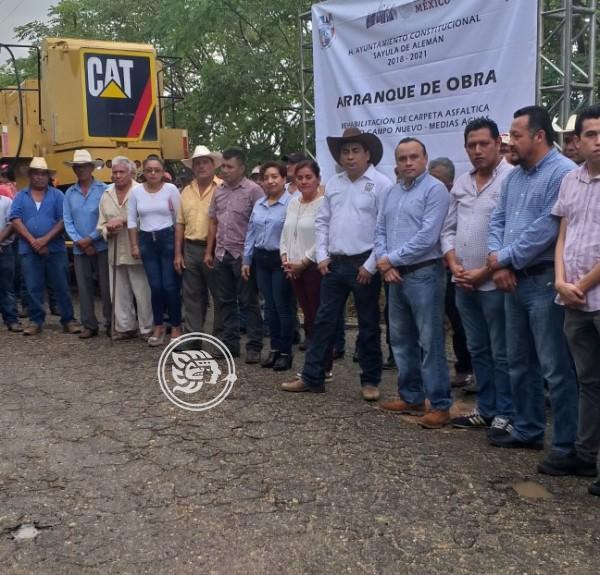 Arranca rehabilitación del camino Campo Nuevo- Medias Aguas