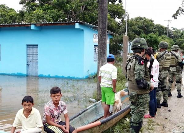 Se desborda el río Tonalá; urgen estación meteorológica
