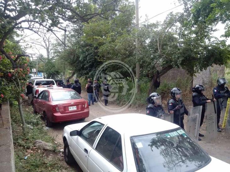 Desalojan asentamiento irregular en predio de Veracruz; 4 detenidos