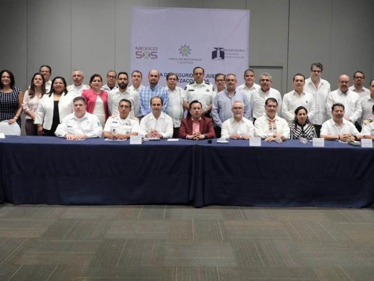 Conforman la mesa de seguridad en la zona de Coatzacoalcos y Minatitlán
