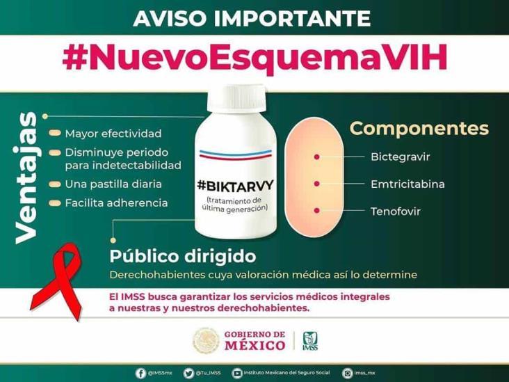 Aplicará IMSS nuevo esquema de medicamentos contra VIH en Veracruz