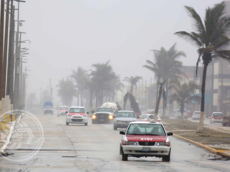 Fuerte Norte en Veracruz-Boca y sur del estado; lloviznas y frío