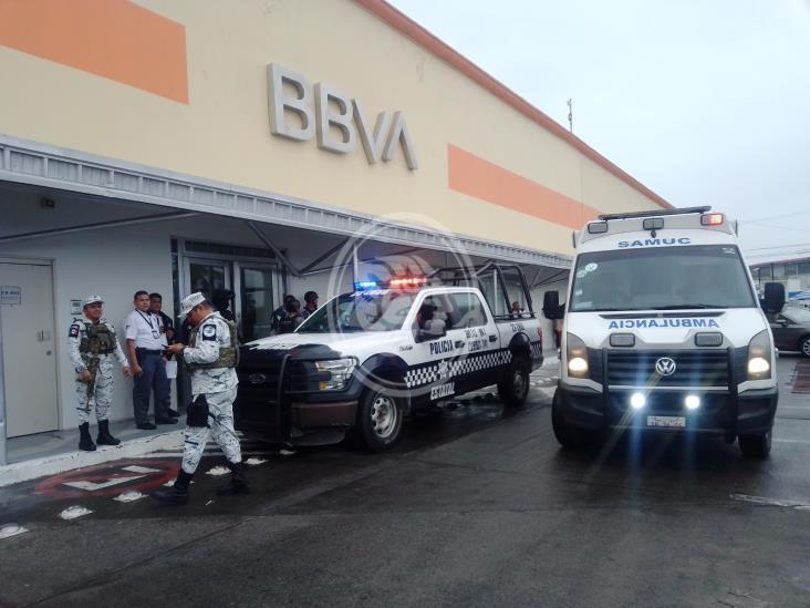 Desconocidos asaltan banco al poniente de Veracruz Puerto