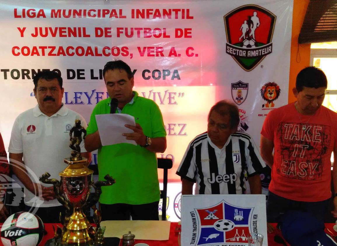 Presentan nueva temporada en la Liga Municipal Infantil y Juvenil de Futbol
