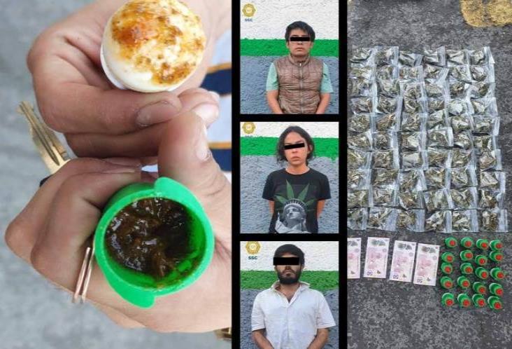 Caen 3 que vendían mariguana mezclada con Pelón Pelo Rico