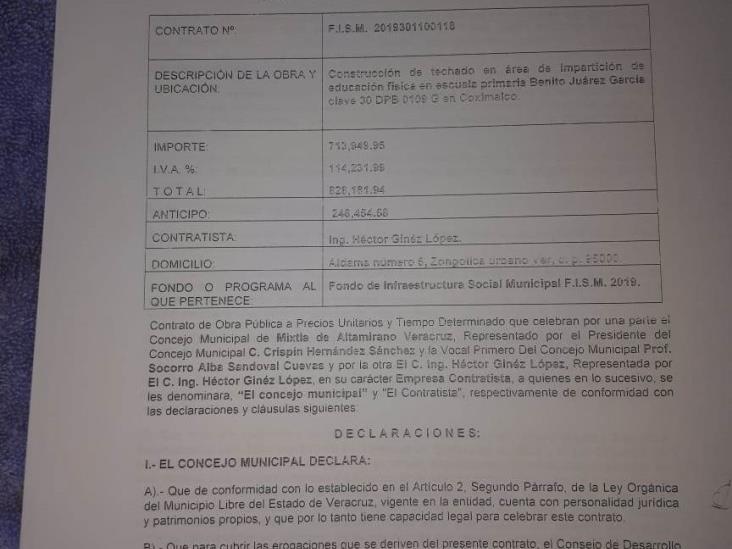 Acusan en Mixtla tráfico de influencias en Concejo Municipal