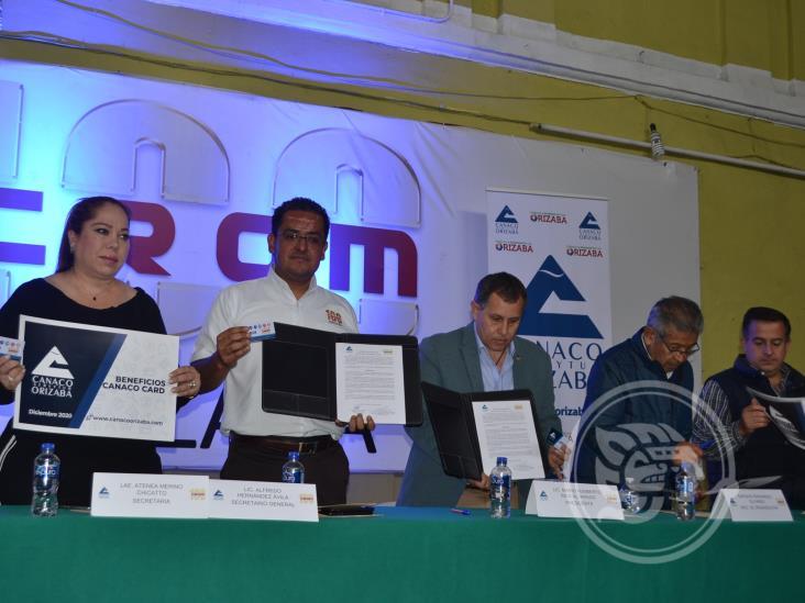 Firman CROM y Canaco Orizaba convenio de colaboración