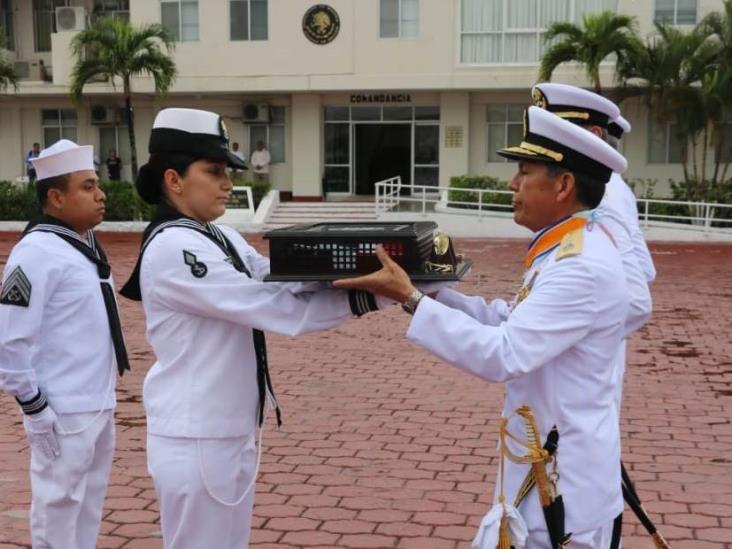 Realizan cambio de mando en la Fuerza Naval del Golfo