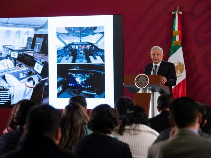 Propone AMLO rifa para vender avión presidencial