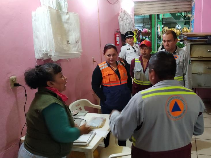 Realiza PC municipal operativo en mercado de Poza Rica