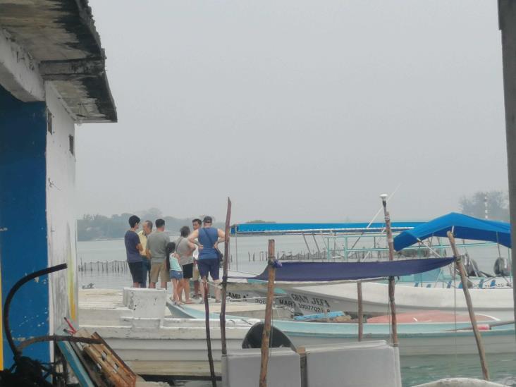 Frentes fríos obligan a pescadores a resguardar embarcaciones en Tuxpan