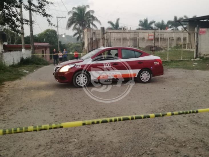 Desconocidos asesinan a taxista en Tuxpan