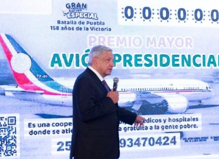 Anuncia AMLO rifa del avión presidencial para el 15 de septiembre