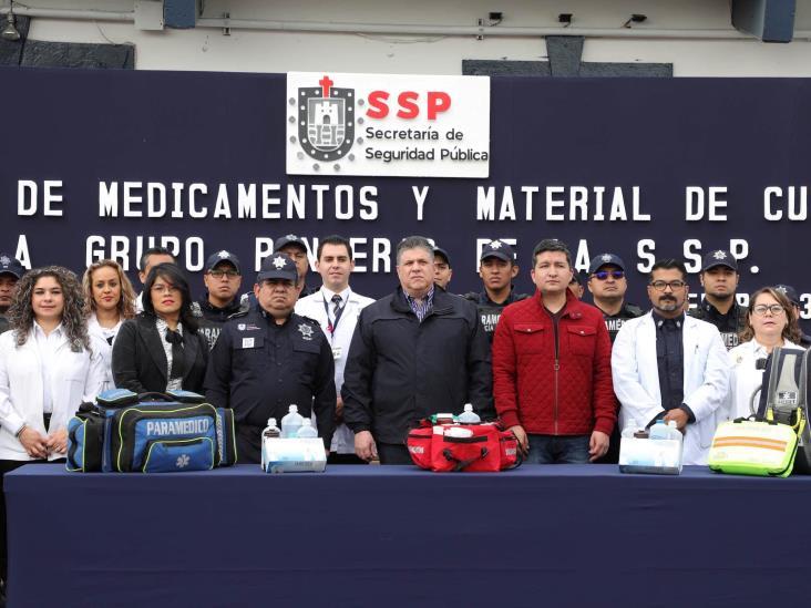 Entrega SSP medicamentos y material de curación al Grupo 'Panteras'
