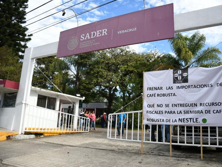 Cafetaleros toman oficinas de Sader en Xalapa