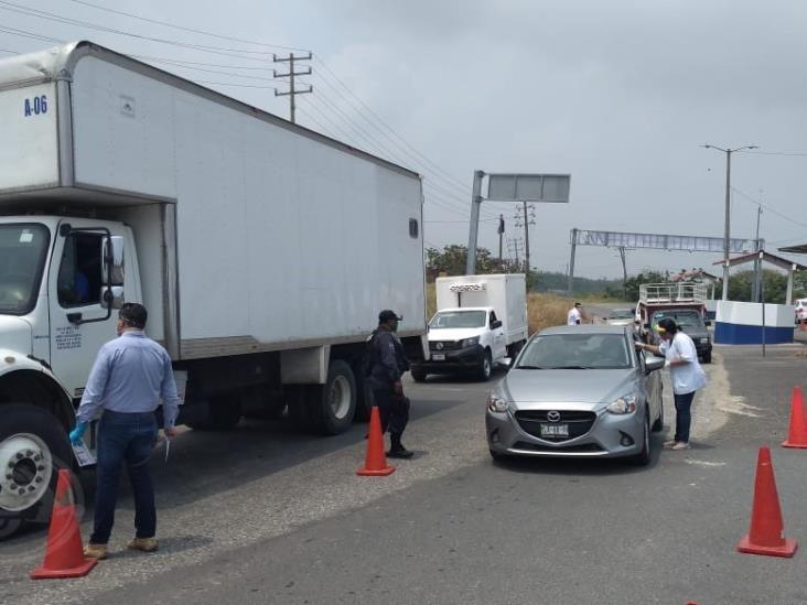 Colocan segundo filtro sanitario en acceso a Coatzacoalcos