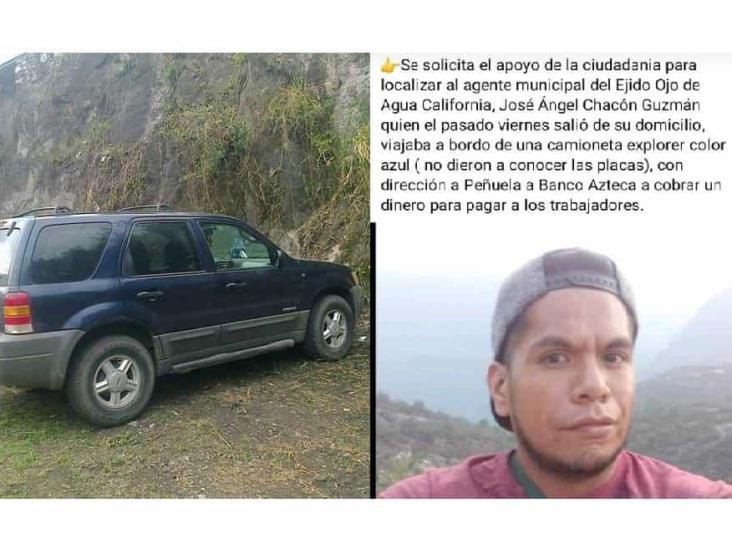 Reportan desaparición de un agente municipal en Amatlán