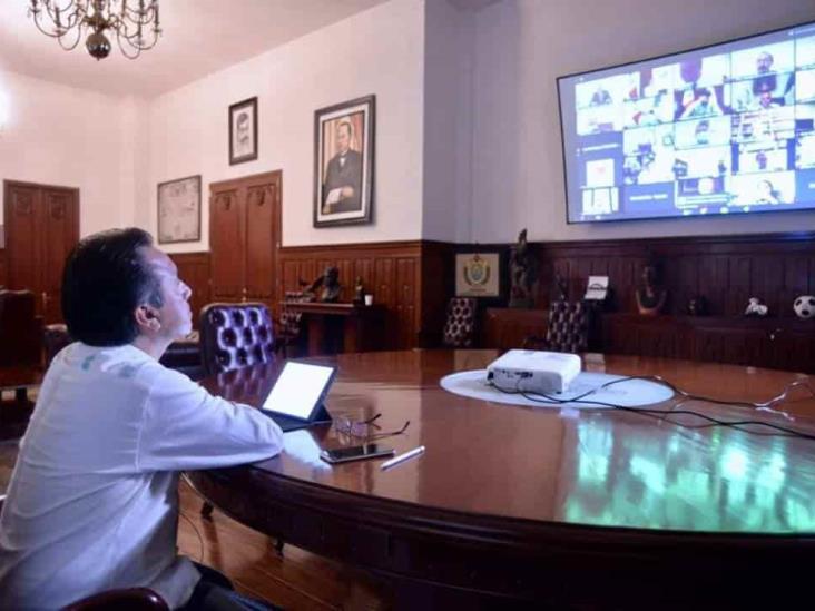 Cuitláhuac García reitera colaboración a la Federación ante pandemia