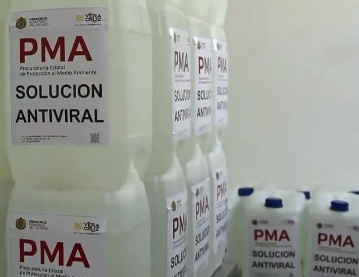 Darán a municipios un desinfectante hecho por PMA y tecnológicos