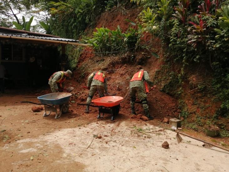 Lluvias dejan afectaciones en zona serrana de Mixtla