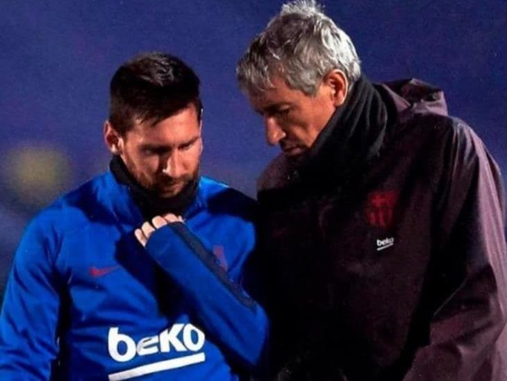 Quique Setién rompió el silencio y habló sobre Messi