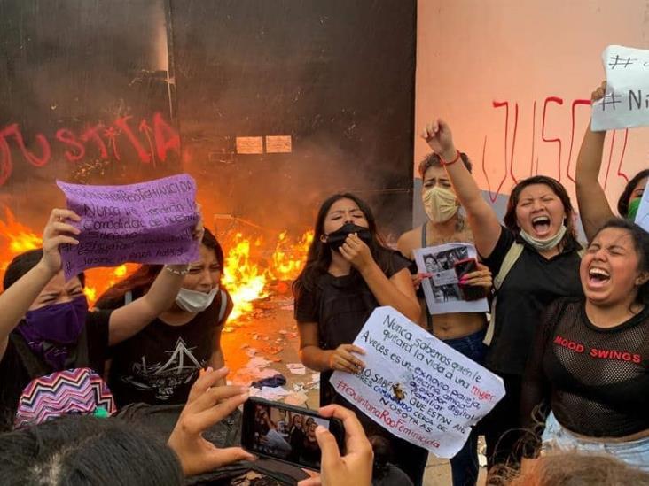 Mujeres detenidas durante protesta en Cancun fueron víctimas de violencia sexual