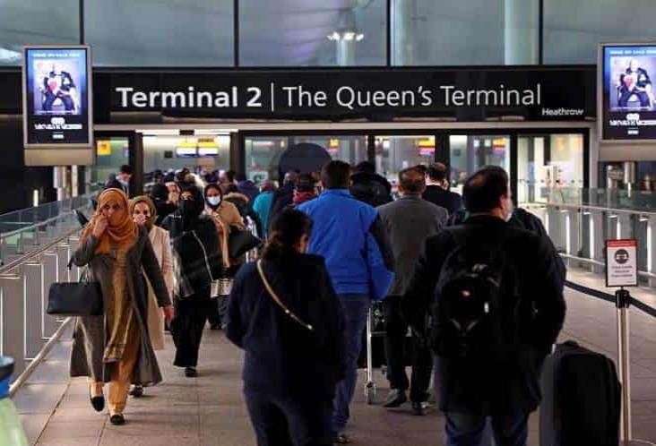 Reino Unido exigirá 2 pruebas covid a viajeros tras su llegada