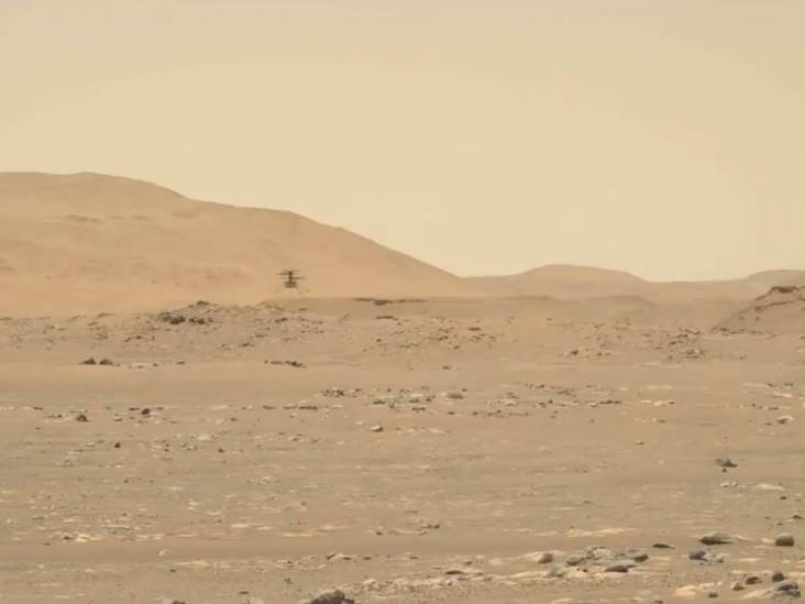 'Ingenuity' surca el cielo de Marte a 2 metros por segundo
