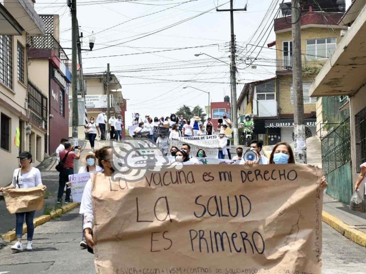 De nuevo personal de Salud de Veracruz protesta por no recibir vacuna anti covid