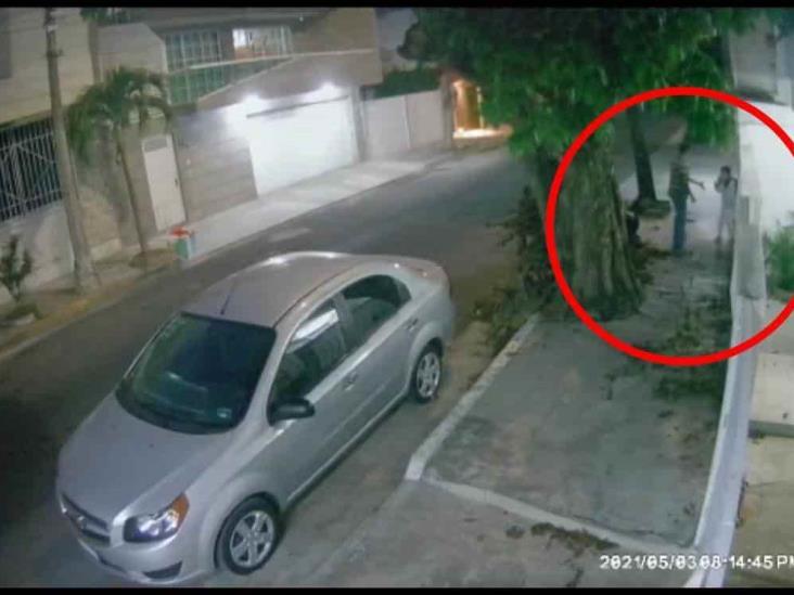 Captan en cámaras de seguridad, asalto en calles de Veracruz