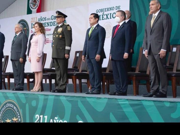 Gutiérrez Luna, primer minatitleco en la historia de El Grito y Desfile Militar